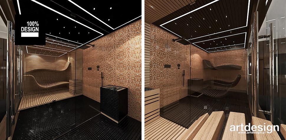 projektowanie domowe spa sauna wnętrza