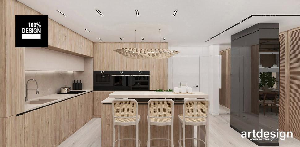 kuchnia drewno jasna wnętrze
