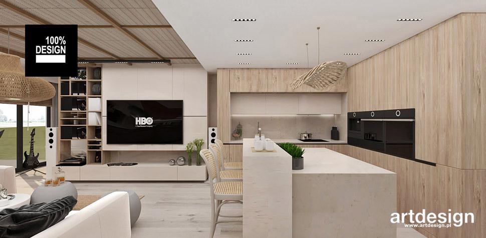 pokój dzienny kuchnia wnętrza