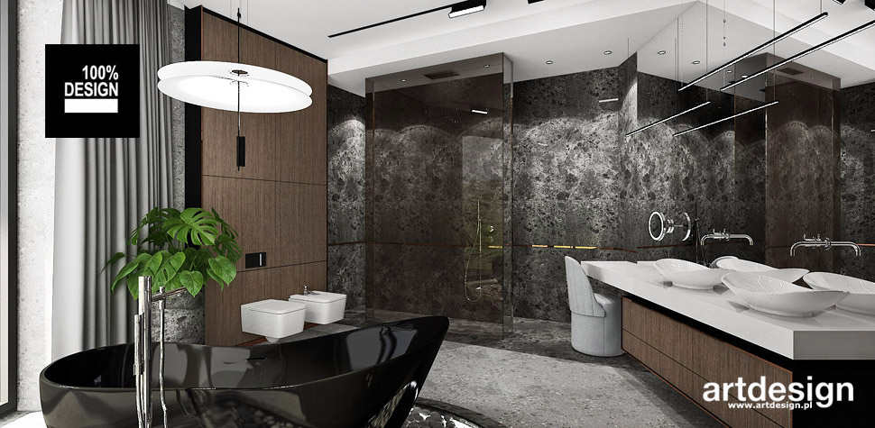projekty łazienek trendy design
