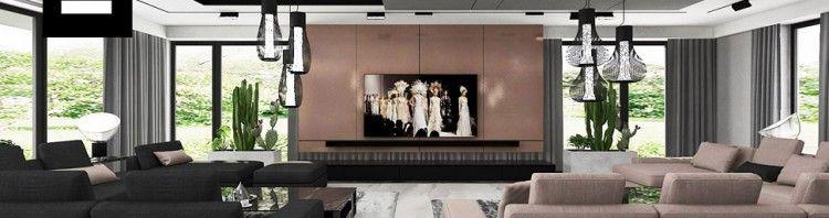 nowoczesny dom wnętrze salon