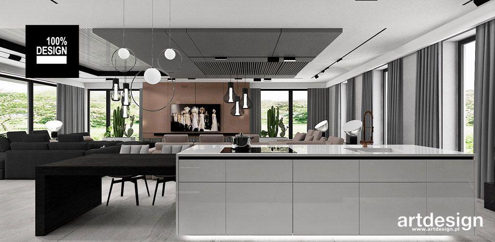 wyspa kuchenna otwarta kuchnia