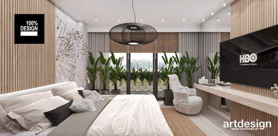nowoczesna aranżacja sypialni wnętrza